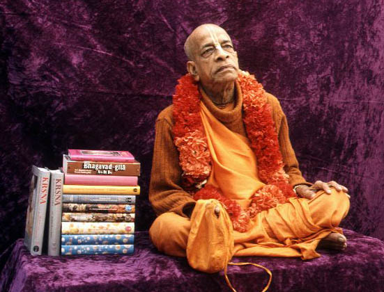 Srila Prabhupada with books